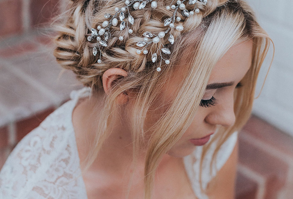 """Carmen"" Bridal Hair Vine Headpiece"