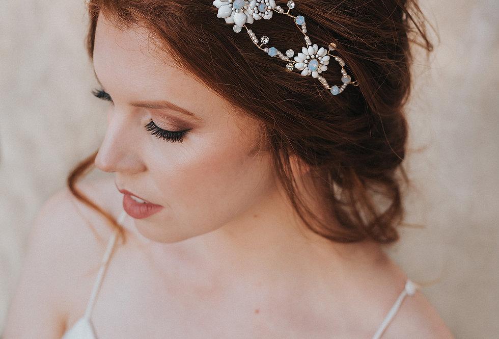 """""""Brylee"""" Bridal Headpiece Headband"""