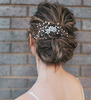 Camille Flower Beaded Bridal Hair Pins 6