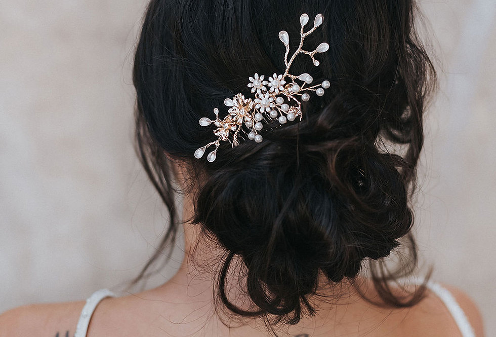 """Bryn"" Small  Bridal Hair Comb"