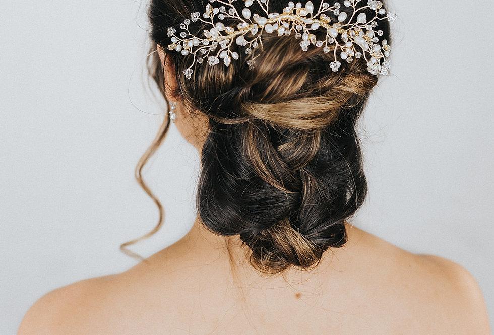 """Eloise"" Large Bridal Hair Comb"