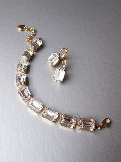 SWAROVSKI CRYSTAL BRIDAL BRACELET, GOLD