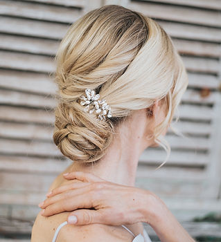 Danielle Small Beaded Bridal Hair Comb.j