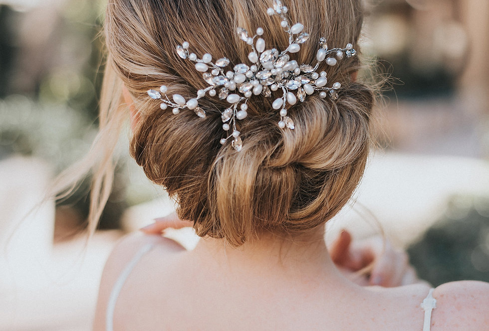 """Gwen"" Medium Bridal Hair Comb"