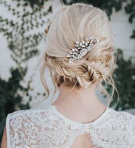 Collette Small Bridal Hair Comb Silver 1