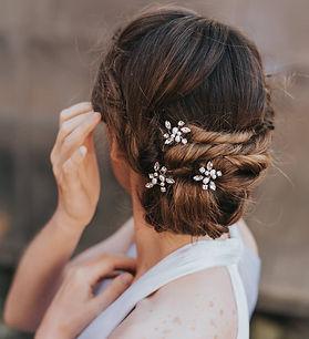 Brooklyn Rhinestone Pearl Bridal Hair Pi