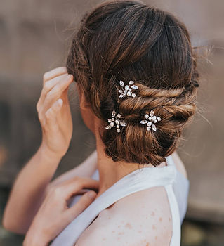 Brooklyn Rhinestone Pearl Bridal Hair Pi