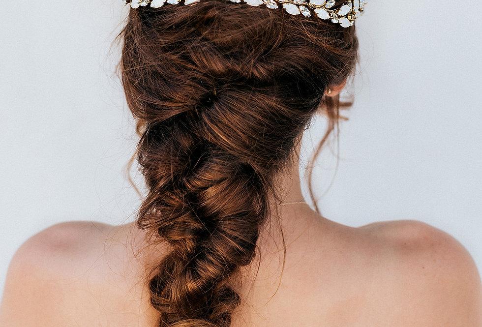 """""""April"""" Bridal Hair Vine"""