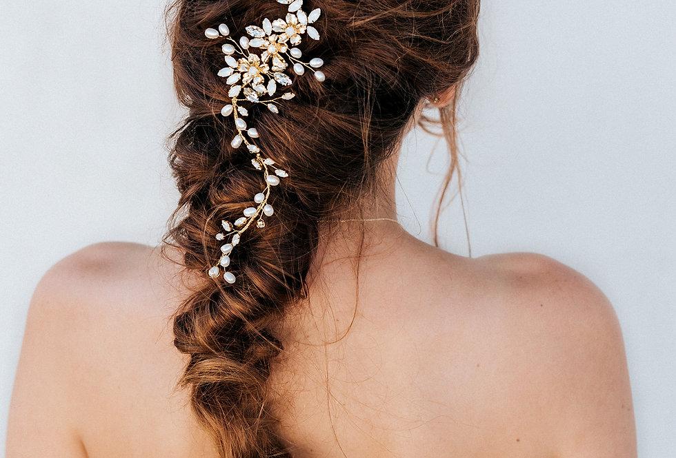 """""""Sutton"""" Bridal Hair Vine"""