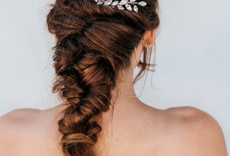 """April"" Medium Bridal Hair Comb"