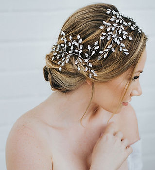 Verena Bridal Hair Vine Double Rhineston