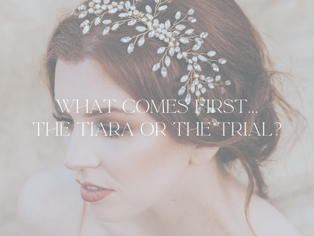 What comes first...the tiara or the trial?