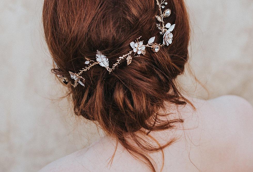 """Everleigh"" Flower Hair Vine"
