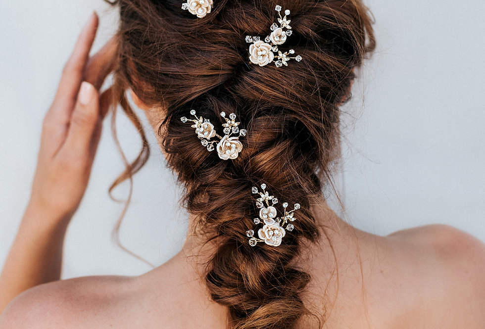 """Rosa"" Bridal Hair Pin"
