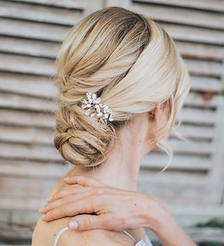 Danielle Small Beaded Bridal Hair Comb-m