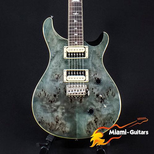 PRS Limited Edition SE Custom 24 Exotic Poplar Burl Whale Blue Green