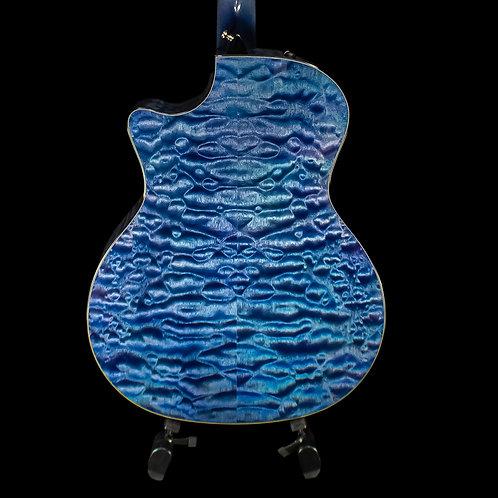 Taylor Custom Shop GA Grand Auditorium Guitar 2019 Blue/Purple Over Teal