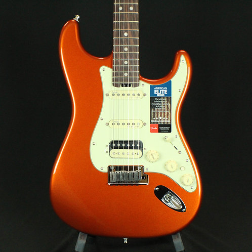 Fender® American Elite Stratocaster® HSS Shawbucker, RW, Autumn Blaze Metallic