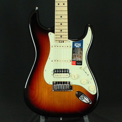 Fender® American Elite Stratocaster® HSS Shawbucker Maple Neck, 3-Color Sunburst