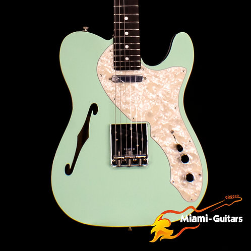 Fender LTD Two-Tone Telecaster Thinline Surf Green Ebony Fretboard (5289)