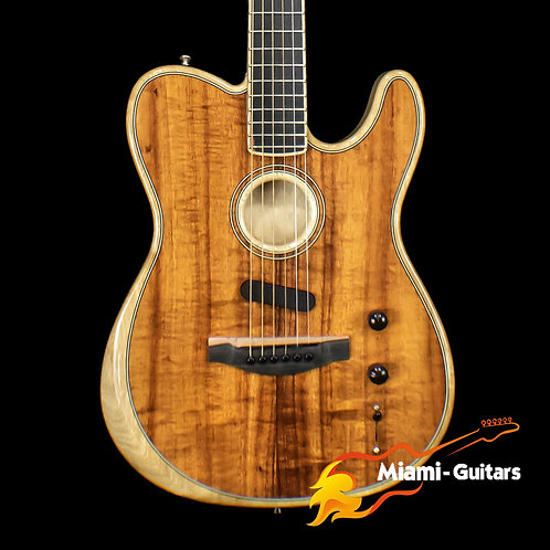 Fender LTD Acoustasonic Telecaster Exotic Wood Acoustic-Electric Guitar Koa