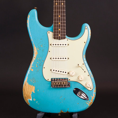 Fender Cust Shop Ltd Edition NAMM 60 HR/CR Strat. 1960 2018 Faded Taos Turquoise