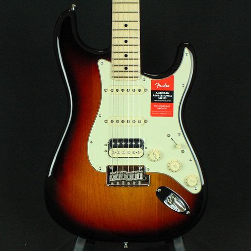 Fender® American Pro Stratocaster® HSS Shawbucker, Maple Neck 3-Color Sunburst