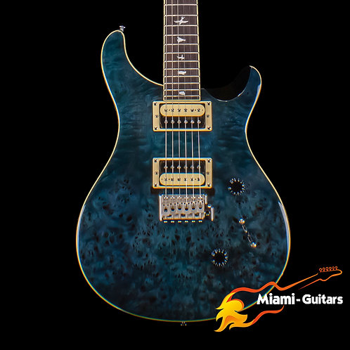 PRS Limited Edition SE Custom 24 Exotic Poplar Burl Whale Blue (9986)