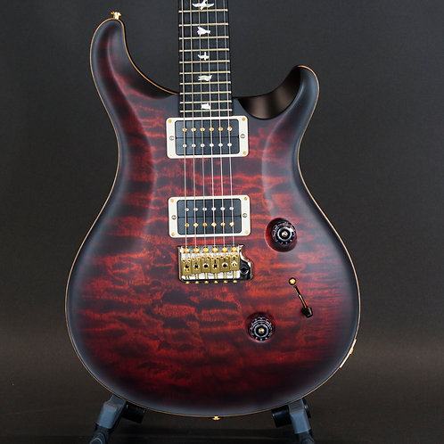 Paul Reed Smith/PRS Wood Library Custom 24 10 Top Satin Fire Red Burst One Piece