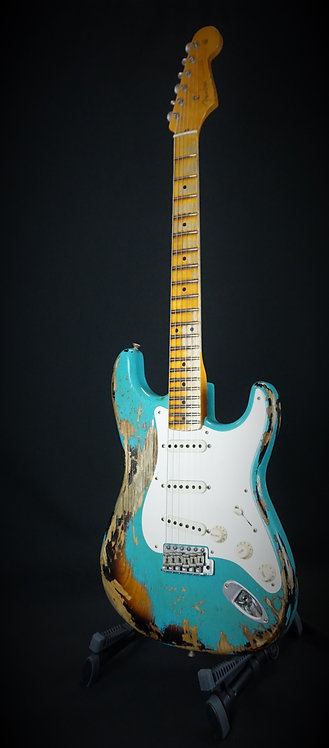Fender® 57 Heavy Relic Strat® 2018 NAMM Limited Edition Taos Tuquoise over 2TSB