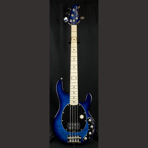Sterling Ray34QM Neptune Blue MN 4-String Bass