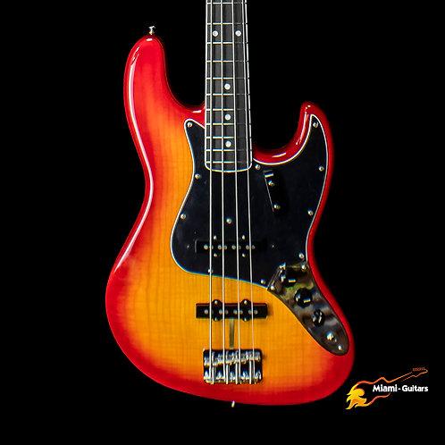 Fender Rarities Flame Ash Top Jazz Bass - Plasma Red Burst