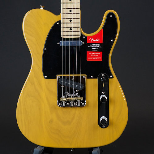 Fender American Professional Telecaster - Butterscotch Blonde with Maple Fingerb
