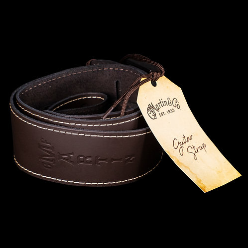 Martin Extendable Brown Slim Style Guitar Strap 18A0045