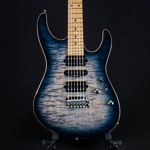 Suhr Modern Plus Faded Trans Whale Blue Burst Roasted Maple 2019