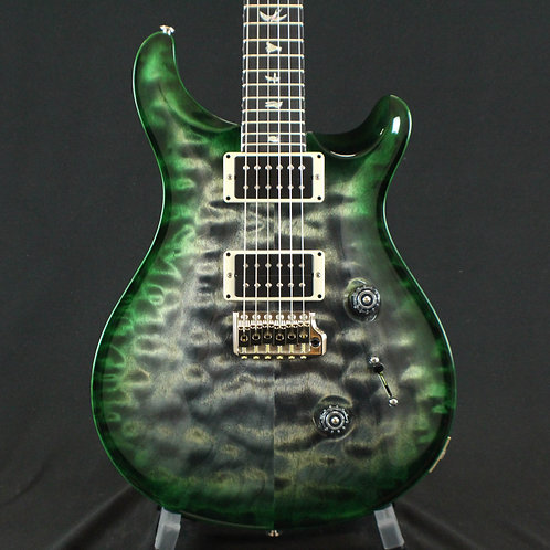 PRS Custom 24 Quilt Top Charcoal Emerald Burst Custom Color
