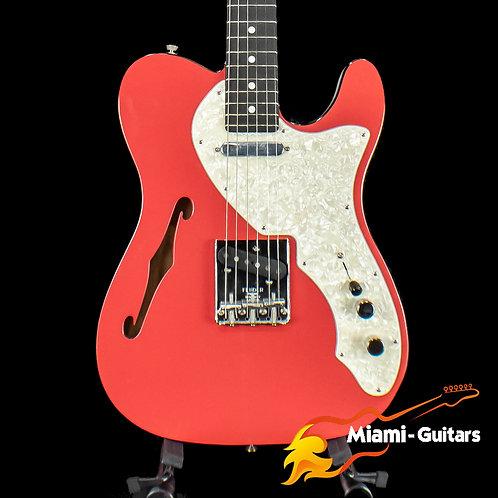 Fender Limited Edition Two-Tone Telecaster Thinline Fiesta Red Ebony Fretboard