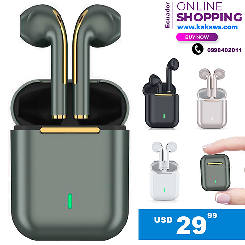 Audífonos Inalámbricos Tactil Earbuds Touch Contra Agua J18