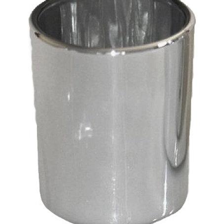Silver Glass Votive Holder