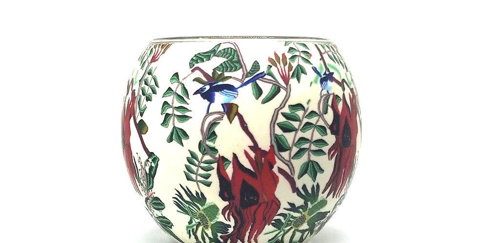 Sturt's Desert Pea Tea-light Bowl - Australian Wildflower Collection