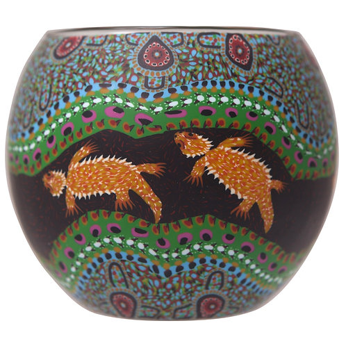 Bearded Dragons Tea-Light & Votive Bowl - Dreamtime Stories Collection