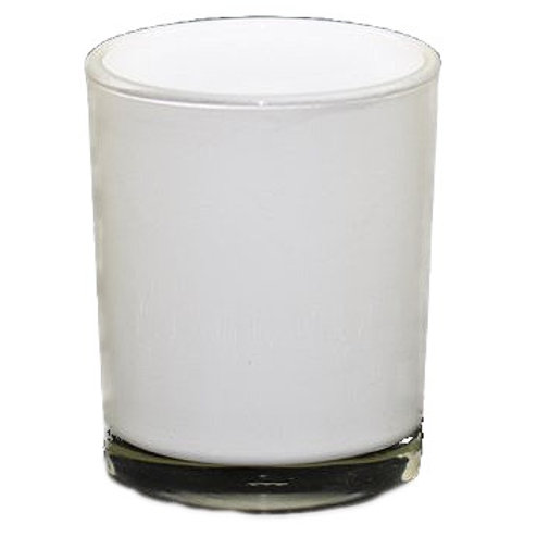 White Glass Votive Holder