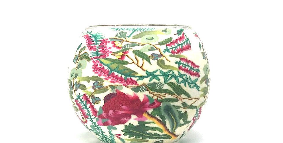 Waratah Tea-light Bowl - Australian Wildflower Collection