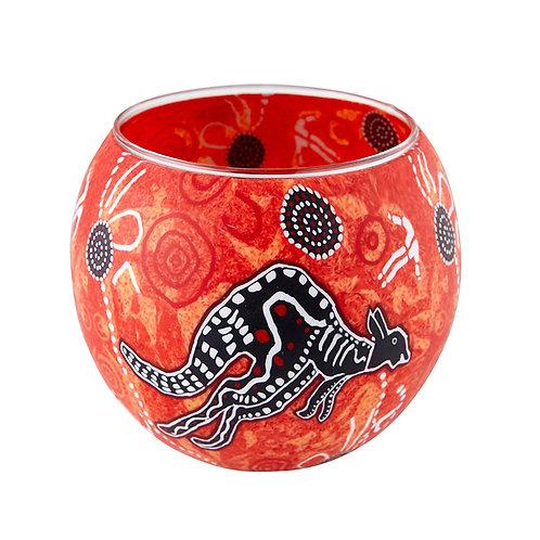 Lone Kangaroo Tea-light Bowl