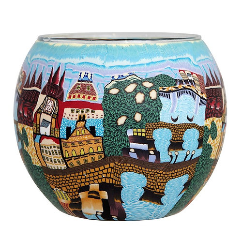 Blue Prague Tea-Light & Votive Bowl - European Collection