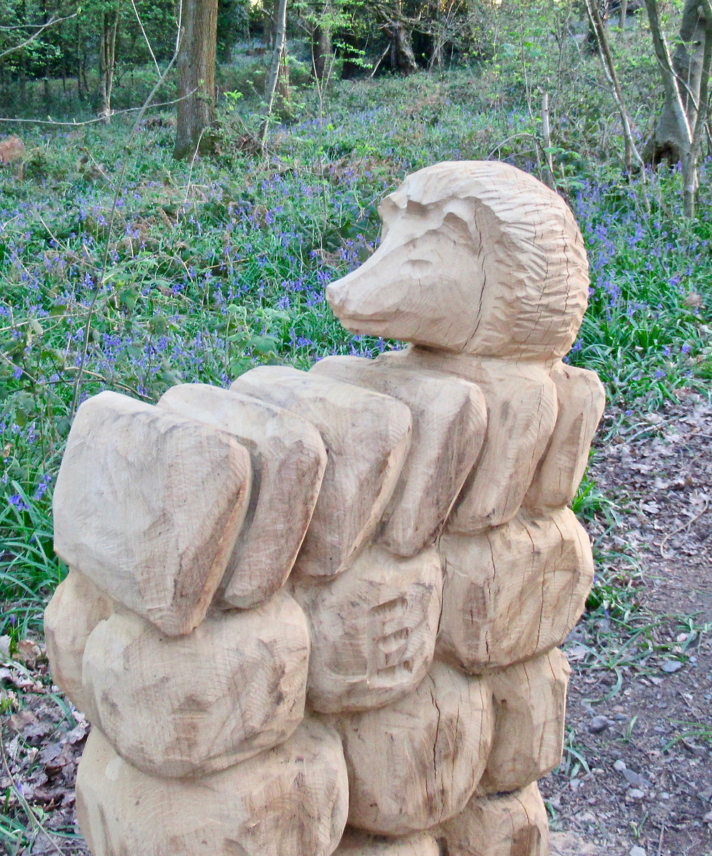 Sculpture trail at Outwoods near Loughborough. Visit in May to enjoy the Outwoods Sculpture trail