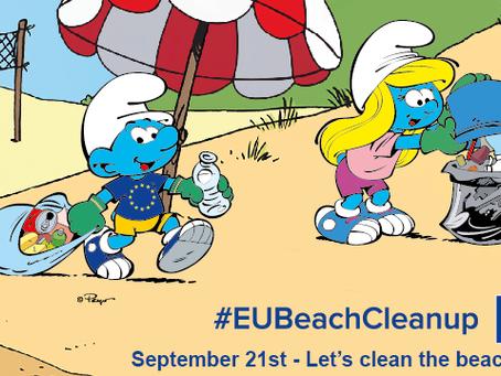 Os Smurfs lideram campanha global da UE por oceanos livres de lixo e plásticos