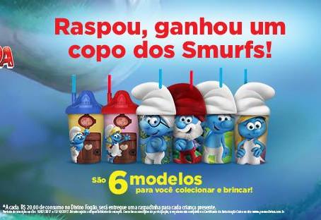 Divino Fogão lança promoção com os Smurfs