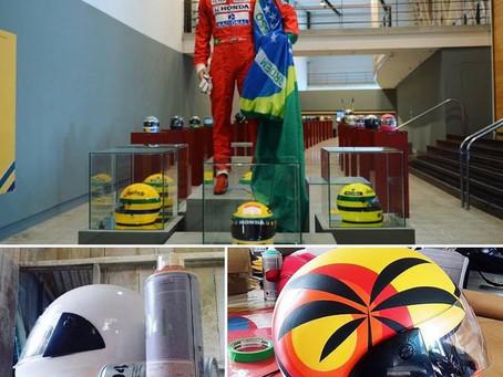 Arte de Tom Veiga em homenagem a Ayrton Senna