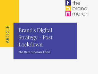 Brand's mere exposure effect - Post Lockdown